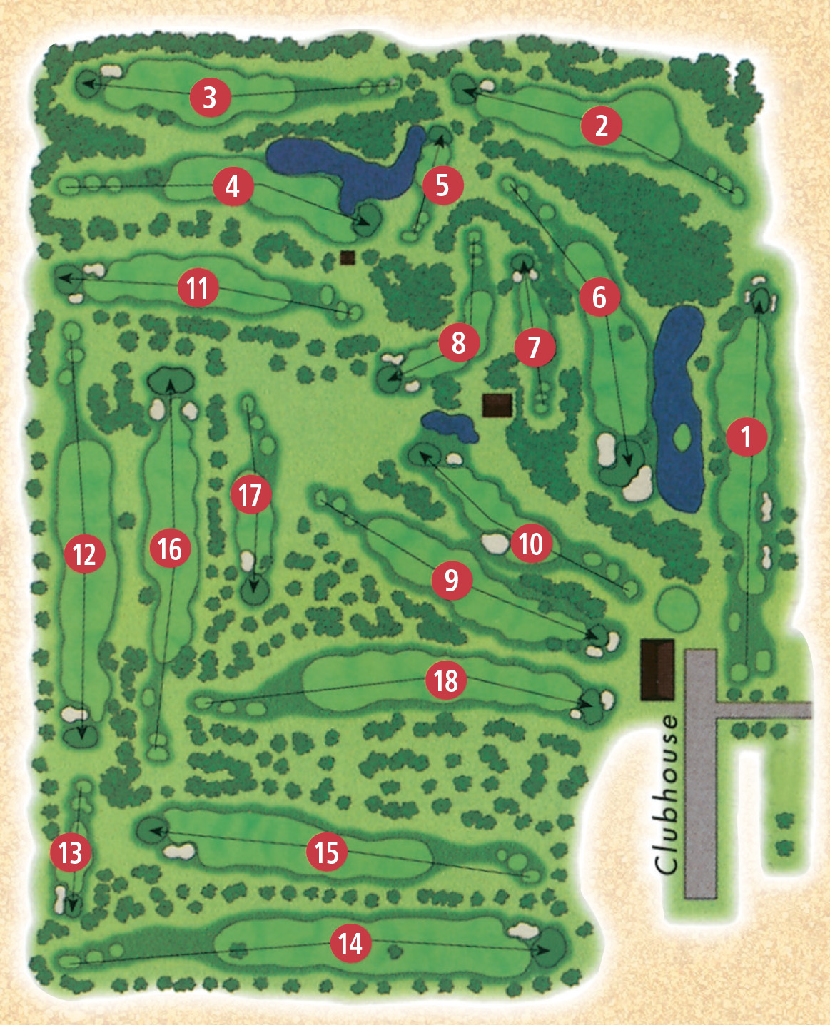 Grand Centre Golf and Country Club - Course Map on golf course layout maps, golf green maps, golf courses map of us, golf yardage book,